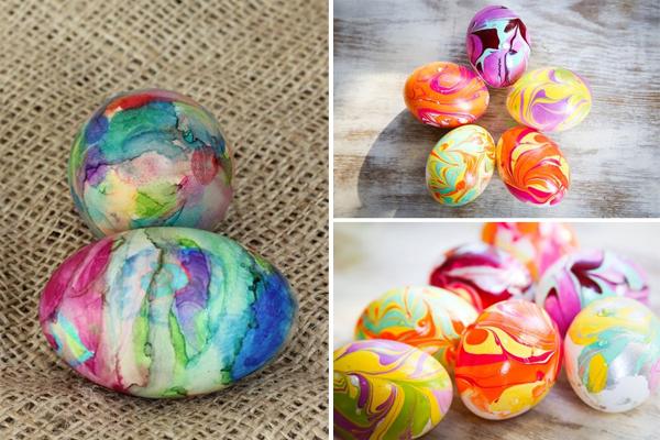 Идеи крашеных яиц на Пасху