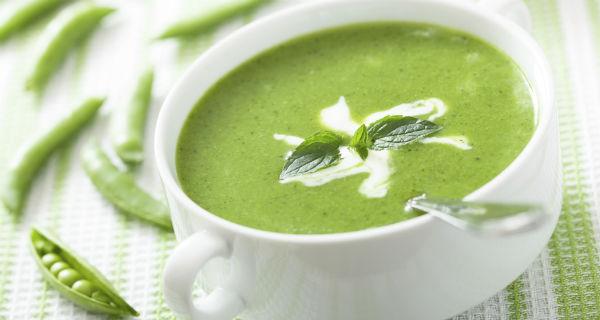 Суп гороховый с мятой