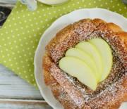 Яблочная шарлотка с английским кремом