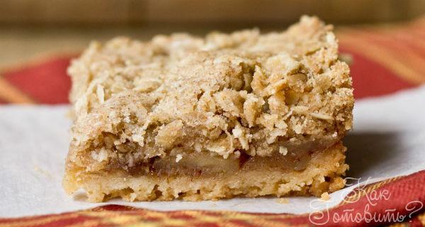 Песочная шарлотка с яблоками рецепт с фото