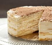 Торт из блинов Тирамису