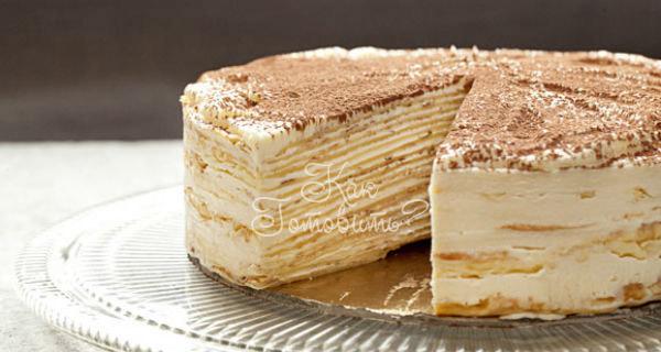 Торт из блинов «Тирамису»