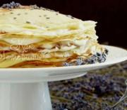 Блинный торт с лавандой и заварным кремом