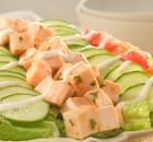 Салатная тарелка на Пасху – индейка с овощами