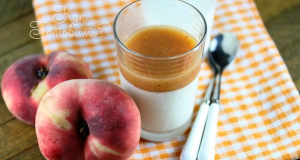 Крем с муссом из персиков и маракуи