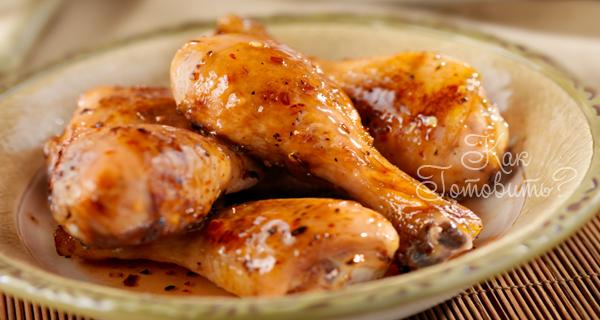 Куриные ножки в медово-лимонном соусе