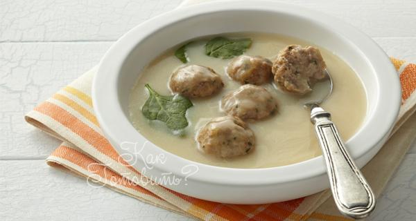 Суп с фрикадельками греческий