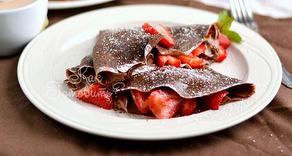 Шоколадные блины на йогурте
