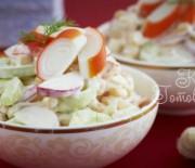Салат крабовый с рисом