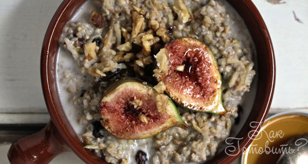 Энергетический завтрак: гречка и фрукты