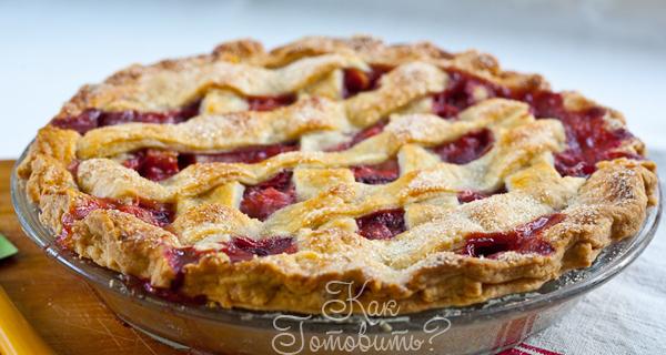 Постный ароматный пирог со смородиной и яблоками
