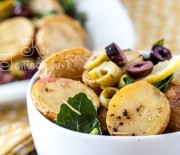 Картофель, запеченный с оливками
