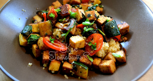 Рецепт тофу и овощей стир фрай