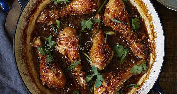 Рецепт куриных ножек, тушеных с овощами