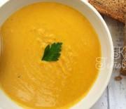 Суп с апельсином и красной чечевицей
