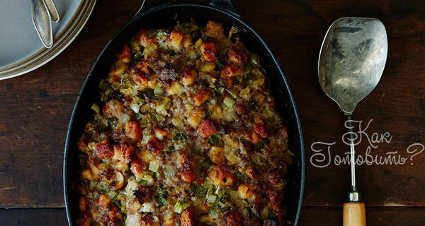 Запеченная свинина с овощами и шалфеем