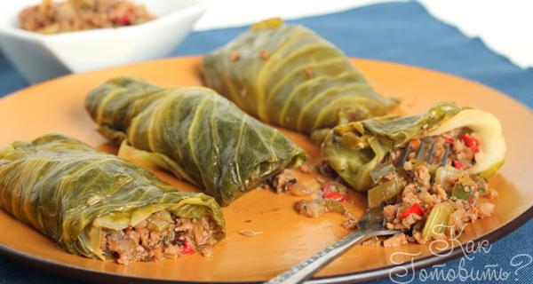 Голубцы из шпината с фаршем – рецепт приготовления с фото от Kulina.Ru