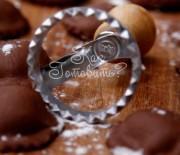 Шоколадные равиоли с сыром