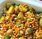 Картофельный салат с чечевицей