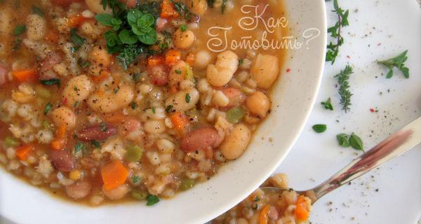 Итальянский суп из полбы