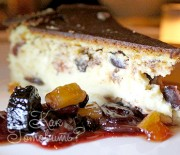 Сырный пирог с сухофруктами