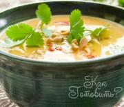 Овощной крем-суп с репой и кольраби