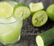 Лимонад из огурца и лайма