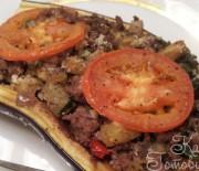 Баклажаны фаршированные бараниной и овощами