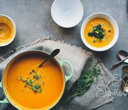 Тыквенный суп-пюре с красной чечевицей