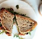 Овощной сэндвич на ржаном хлебе