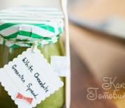 Спред из белого шоколада и зеленого чая