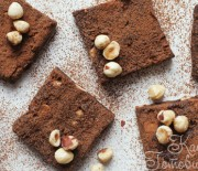 Брауни с кофе, орехами и шоколадом