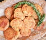 Хрустящее печенье с грибами и сыром